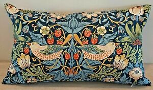 Rejuvenation William Morris Strawberry Thief Lumbar Pillow Cover 16 x 26 NEW