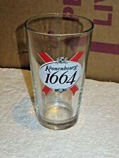 "Kronenbourg 1664 France Lager Pint Beer 16oz Glasses 6"""