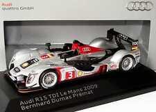 1:43 Audi r15 TDI Le Mans 2009 Nº 3 Bernhard Dumas Premat-Dealer-Edition-OEM