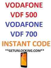 VODAFONE 500 VDF500 VODAFONE 700 VDF700 CODICE di sblocco servizio Instant