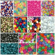 200 Barrel Pony Beads The Beadery Color Choice! Made in USA 9mm 3/8