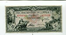 Canada Canadian Bank Of Commerce 10 Dollars 1935 Vf Nr 35.00