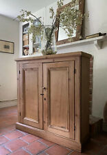 Victorian Antique Pine Hall Storage Cupboard Cabinet