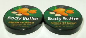 2 LUXURY Essentials Beurre Corporel 100% Pure Hydratante Amande Huile Extrait