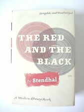 THE RED AND THE BLACK by STENDHAL MODERN LIBRARY HC w/ JACKET ML157 *EXCELLENT*