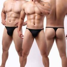 Men Sexy G-String Briefs Thong Lingerie Adjustable Seamless Underwear Underpants