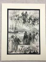 1875 Print Liverpool Local History Sultan of Zanzibar Visit Antique Original