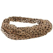 Chicas/y señora con estampado de leopardo Headwrap Diadema Hairband