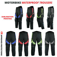 New Waterproof CE Armoured Motorcycle / Motorbike Trousers Textile Cordura Pants