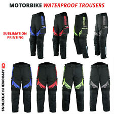 New Waterproof CE Armoured Motorcycle / Motorbike Trousers Textile Cordura Pant