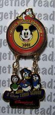 Disney Pin 2001 Official Disneyana Convention Donald and Nephews Dangle
