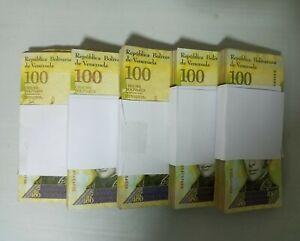 2017 Venezuela 100,000 Bolivares Half Brick 500 Pcs. F, VF, XF USED 5 Bundles b