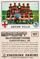 "ULTRA RARE !! Vignette ASTON VILLA Sticker n°137 ""EURO FOOTBALL 82"" PANINI"