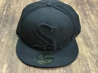 Chicago White Sox Black MLB Baseball Hat - New Era - 7 ⅜