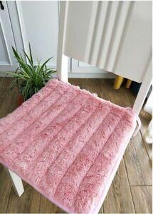 Cotton Cushion Student Boss Winter Warm Non Slip Plush Dining Chair Pad Washable