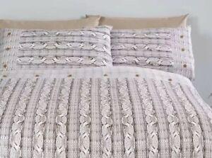 Rapport Arran  100% Brush Cotton Flannelette Duvet Set Double  Cheapest On Ebay