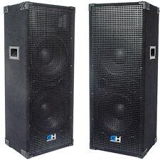 2500W Pair of Dual 12 Inch Passive PA Speaker for Bands DJs Karaoke Church