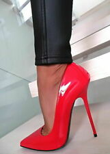 1969 Pumps 14 cm Sexy Anouk Red Rot ROuge fetish sky high heels 42 41 as new