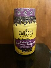 Zarbee's Naturals Elderberry Immune Support* Gummies with Vitamin C, Zinc,60 Ct