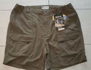 New Columbia GRT Omni-Dry Olive Nylon Cargo Shorts REI Men's Size XL UPF 30+ NWT