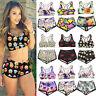 Femmes Sports Bikini Set Tops + Shorts Maillots de bain Tankini Beachwear 04