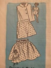 Darling VTG 50s MARION MARTIN 9108 Girls Blouse Shorts & Skirt PATTERN 6/24B