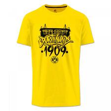 "BVB - T-Shirt Borussia Dortmund ""Stadion"" gelb T-Shirt BVB Graffiti Gr. XL"