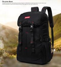 50L Outdoor Hiking Bag Camping Travel Waterproof Mountaineering Backpack Black