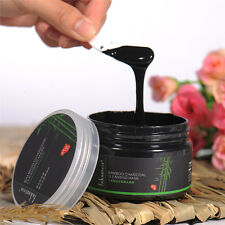 Blackhead Remover Deep Cleansing Peel Off Mud Bamboo Charcoal Face Mask + Brush