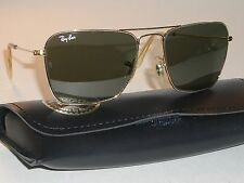 52[]16mm VINTAGE BAUSCH & LOMB RAY BAN L0226 G15 GOLD CARAVAN AVIATOR SUNGLASSES