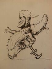 John Mansfield (abogado & magistrado) c.1840's par de caricatura dibujos