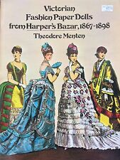 Victorian Fashion Paper Doll Book from Harper's Bazar,1977, 16 Pages, Uncut