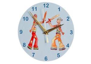 Children's NEW Wooden Duelling Pirates Kids Boys Girls Wall Clock
