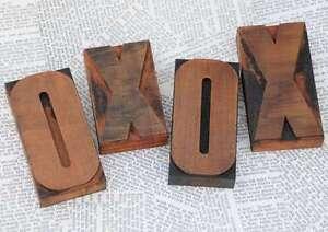 """""""XOXO"""" Holzbuchstaben Plakatlettern Buchstaben Stempel Holzletter Hochzeit Liebe"""