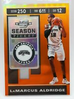 Panini Contenders Optic 2019-20 orange prizm 07/49 card #53 LaMarcus Aldridge