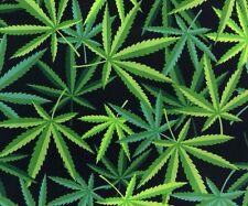 RPFAH420 Herb Cannabis Pot Leaves Marijuana Weed Stoner Cotton Quilting Fabric