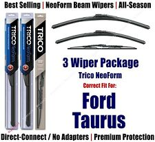 3pk Wipers Front & Rear - NeoForm - fit 2004-2007 Ford Taurus - 16240/200/30160