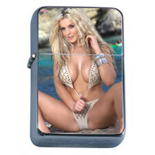 Moroccan Pin Up Girls D19 Flip Top Dual Torch Lighter Wind Resistant