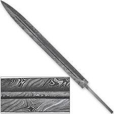 Premium Damascus Steel Medieval Fuller Sword Blank Blade 1095 High Carbon Steel