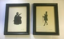 Mr Micawber & Sairey Gamp Silhouette Pictures Set of 2