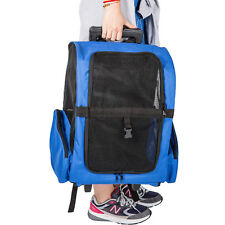 Pet Travel Rolling Backpack Rolling Carrier for Dogs Pet Carrier w/Wheels