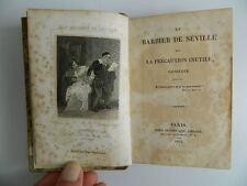 in-18 BEAUMARCHAIS Le Barbier De Séville Théâtre Roux-Dufort 1825