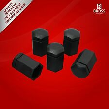 5 Pcs Car Wheel Bolt Screw Cover 6006066,13160977 Black Cap for Vauxhall Opel GM