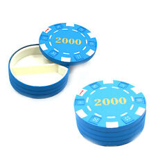 1 Blue Diversion Safe Poker Chip Hidden Pill Stash Can Container Free Shipping