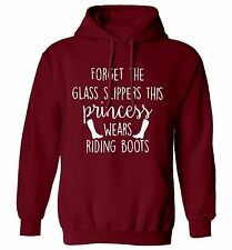 princess wears riding boots, hoodie / sweatshirt horse stables equestrian 1644