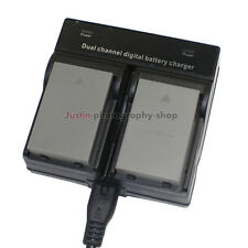 Dual Charger +2x Battery for Olympus BLS-5 BLS-50 PS-BLS5 PEN E-PL8 E-PL6  E-PL7