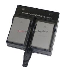 Dual Charger +2x Battery for Olympus BLS-50 OM-D E-M10 II PEN E-PL7 E-PL6 E-PL5
