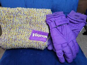 NFL Minnesota Vikings Women's Chunky Infinity Scarf Foco & Saranac Gloves