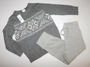 NWT Gap Toddler Boy 2 Pc Set Snowflake Sweater/Joggers 12-18M 3Yrs/3T Free Ship
