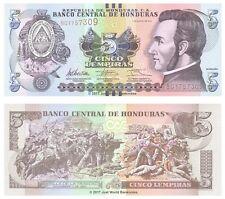 Honduras 5 Lempiras 2012 P-98 Banknotes UNC